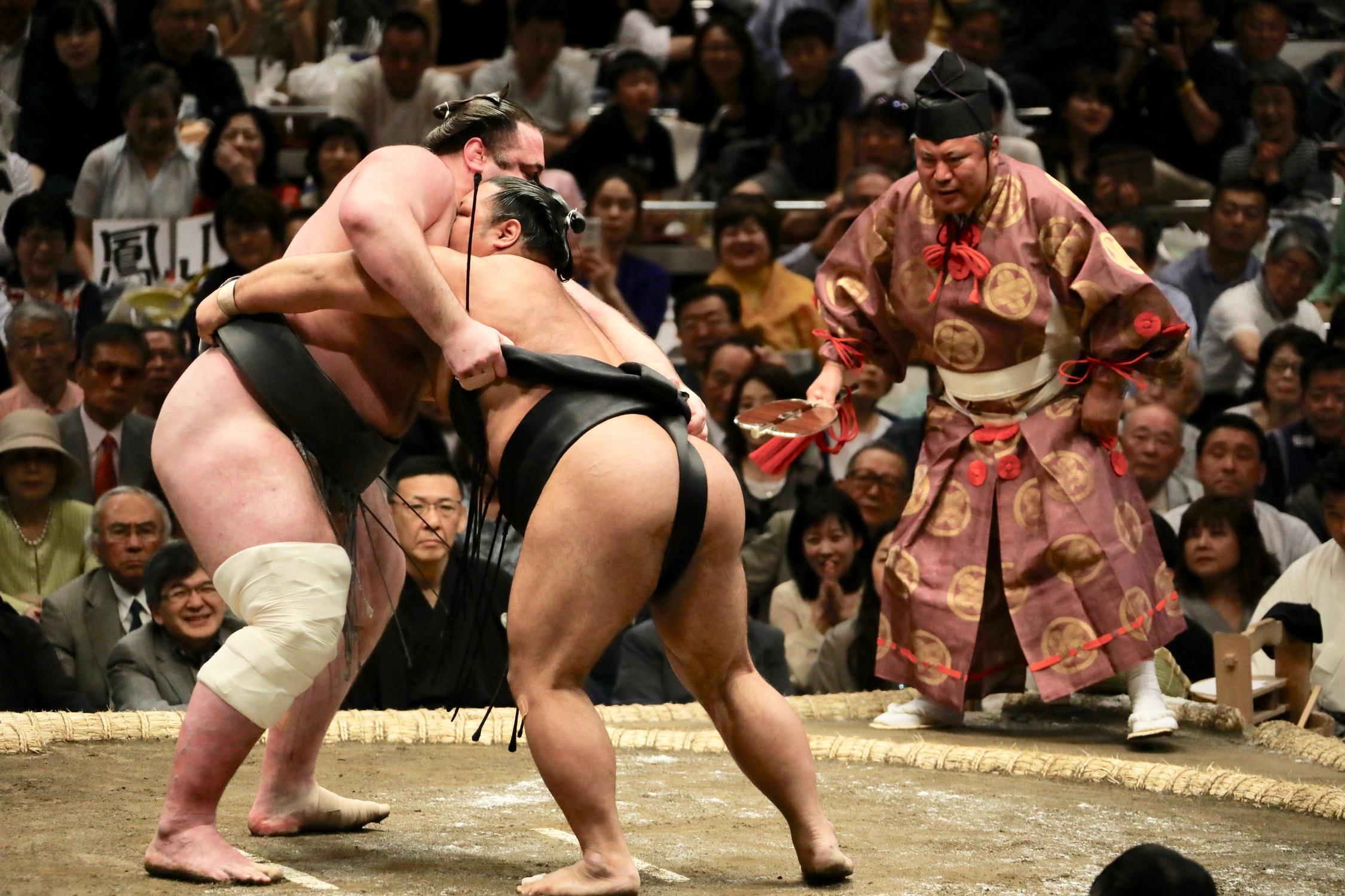 "A sport that originated in Japan""Sumo"""